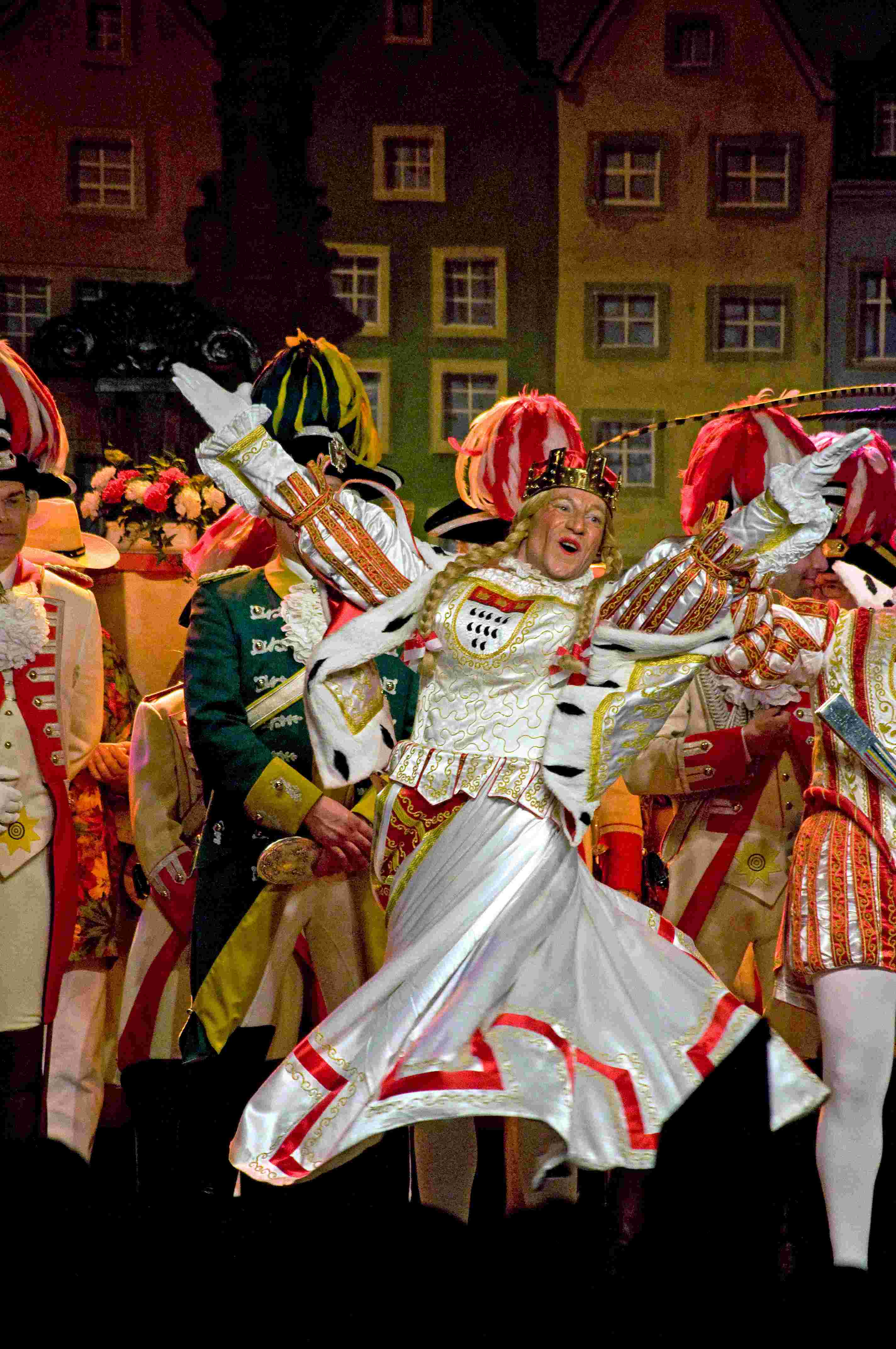 Sitzung 2014 32 - Dreigestirn von 2014 (Jungfrau als Dancing Queen)