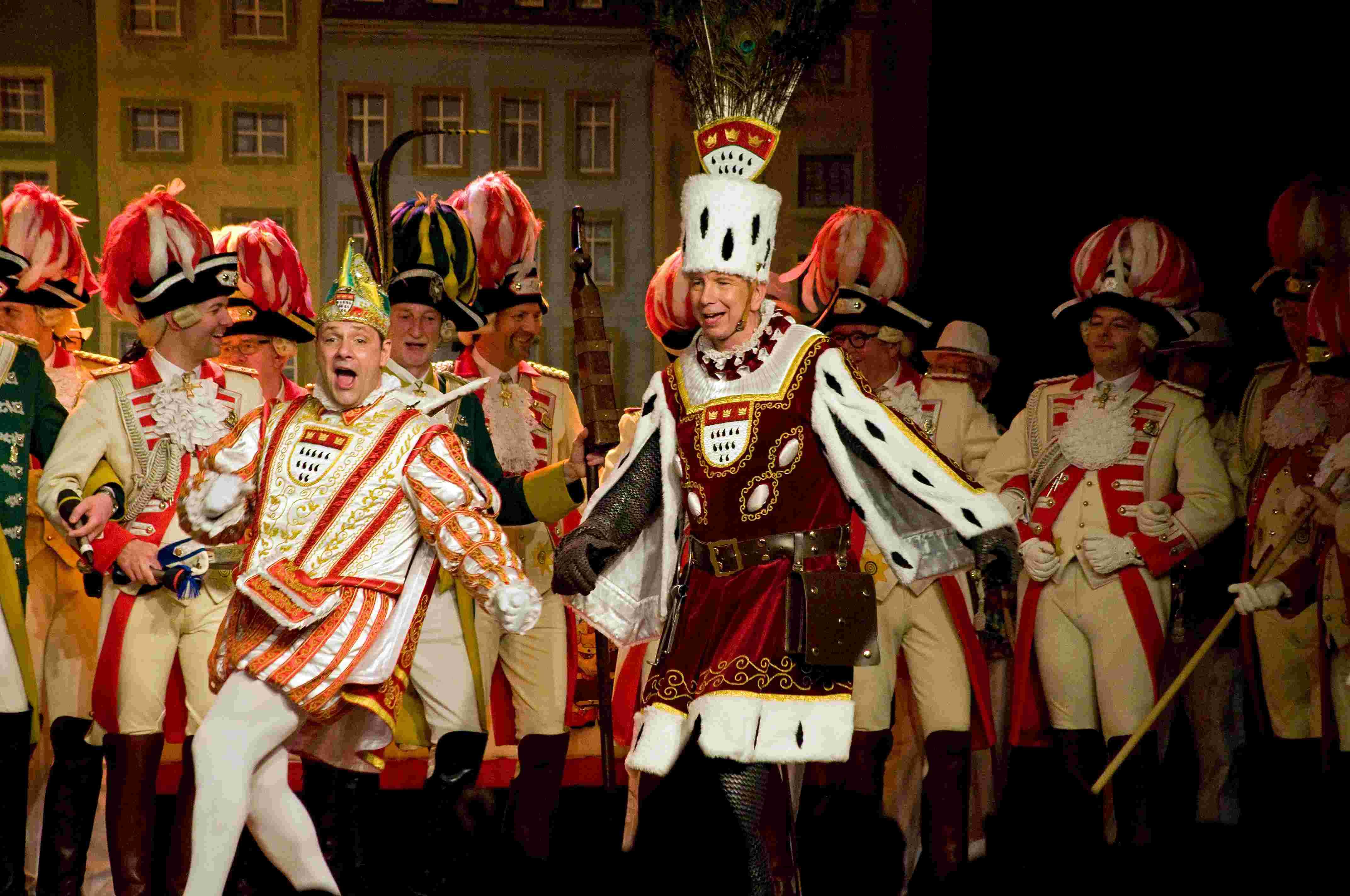 Sitzung 2014 34 - Dreigestirn (tanzender Prinz und Bauer)